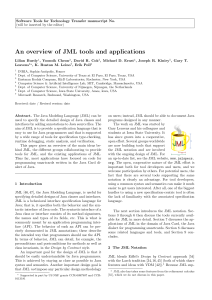 An overview of JML tools and applications