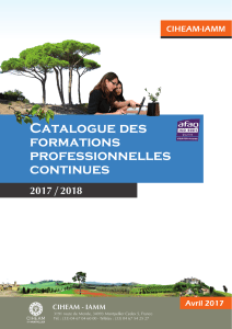 Catalogue des formations professionnelles continues