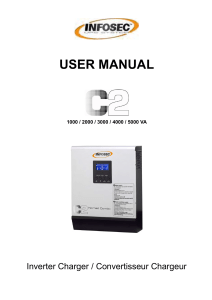 USER MANUAL  Inverter Charger / Convertisseur Chargeur