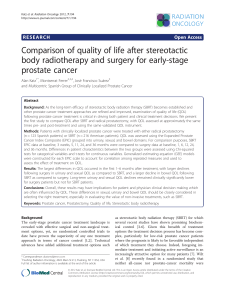 Comparison of quality of life after stereotactic prostate cancer