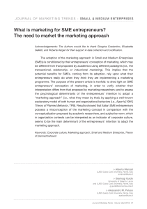 What is marketing for SME entrepreneurs?
