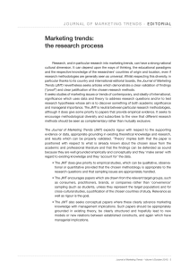 Marketing trends: the research process