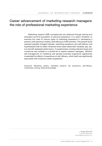 Career advancement of marketing research managers: