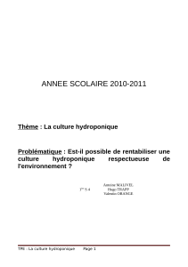 ANNEE SCOLAIRE 2010-2011