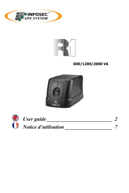 User guide _________________________  2 Notice d'utilisation __________________  7 600/1200/2000 VA