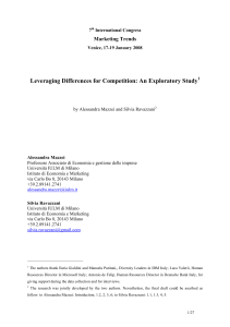 Leveraging Differences for Competition: An Exploratory Study  Marketing Trends