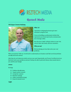 Reztech Media Web design & Internet Marketing What I do