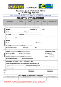 BULLETIN d'ENGAGEMENT  