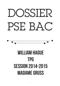 DOSSIER PSE BAC wILLIAM HAGUE TPG