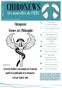 S  Chiropraxie: Science, art, Philosophie