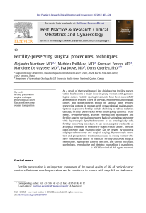 Best Practice & Research Clinical Obstetrics and Gynaecology Fertility-preserving surgical procedures, techniques
