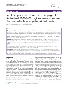 Media response to colon cancer campaigns in