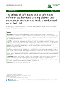 The effects of caffeinated and decaffeinated
