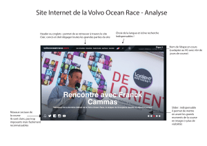 Site Internet de la Volvo Ocean Race - Analyse