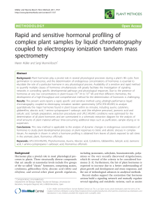 Rapid and sensitive hormonal profiling of