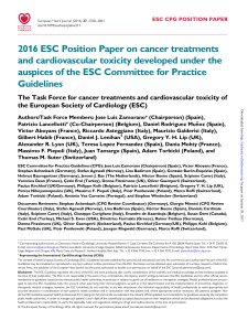 2016 ESC Position Paper on cancer treatments