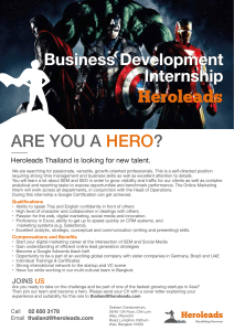 ARE YOU A ? HERO Business Development