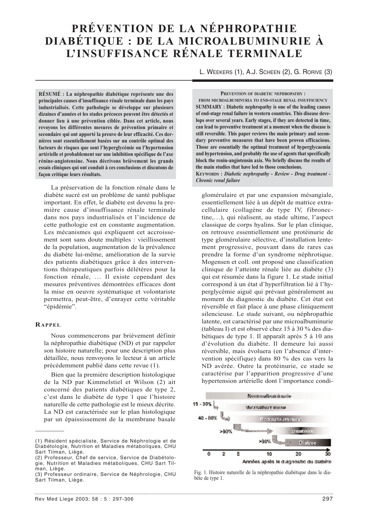 nephropathie diabetes mellitus