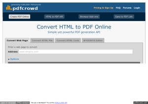 Convert HTML to PDF Online Simple yet powerful PDF generation API pdfcrowd.com