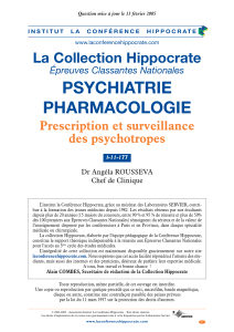 PSYCHIATRIE PHARMACOLOGIE La Collection Hippocrate Prescription et surveillance