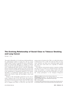 The Evolving Relationship of Social Class to Tobacco Smoking