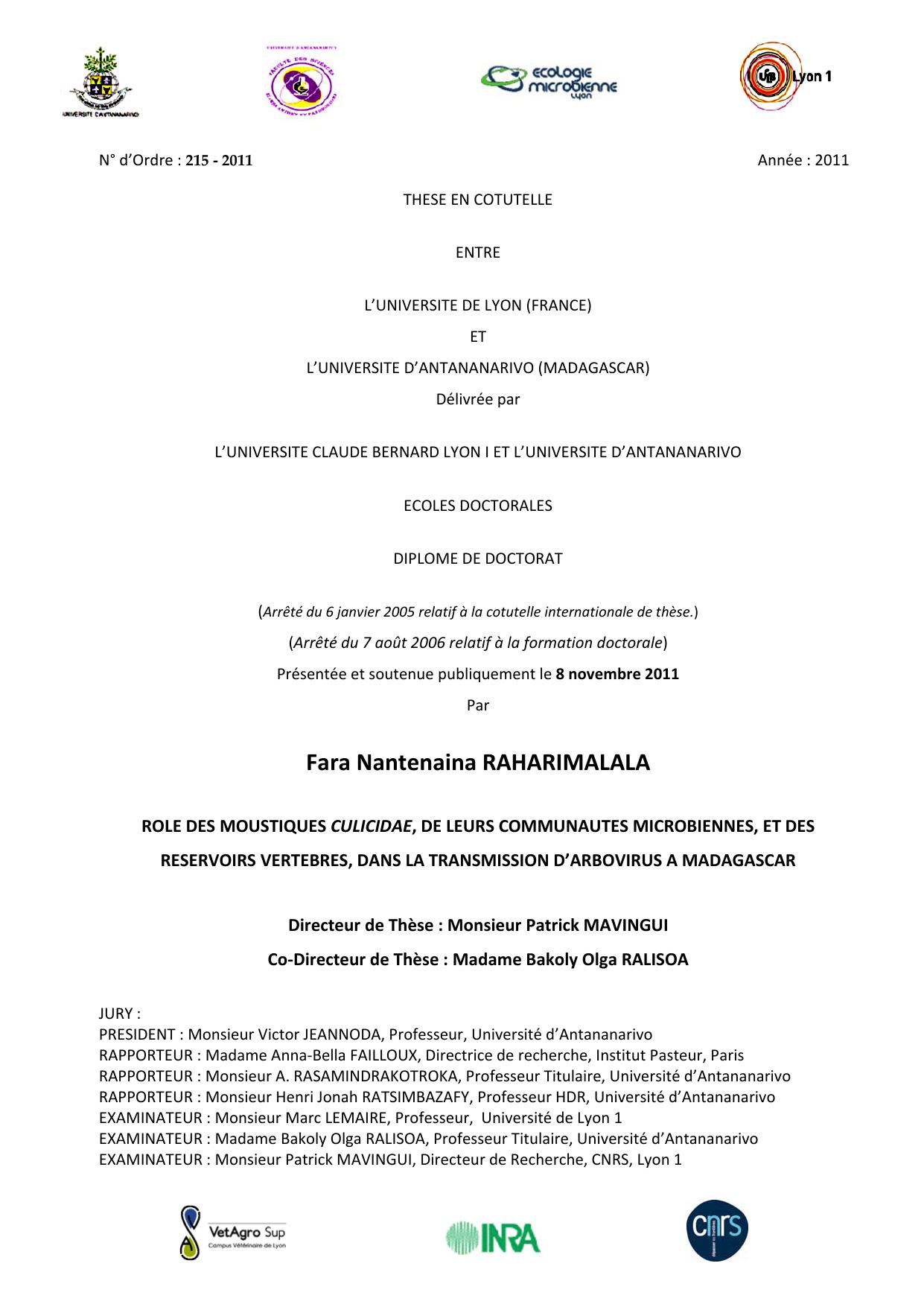 Tableau 19: Prix du siratany sur le marché dAntananarivo.