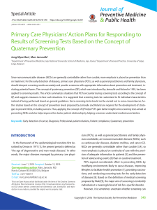 Primary Care Physicians' Action Plans for Responding to