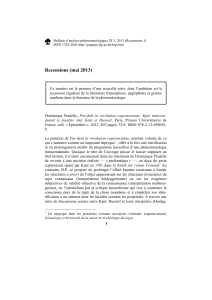 Bulletin d'analyse phénoménologique IX 3, 2013 (Recensions 1)  ISSN 1782-2041