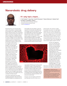 Nanorobotic drug delivery UNCOVERED