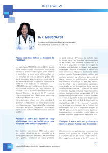 INTERVIEW Dr K. MOUSSAYER