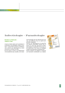 Infectiologie - Parasitologie A :