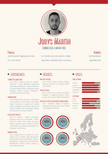 Jorys Martin Profile Hobbies CommerCial & marketing