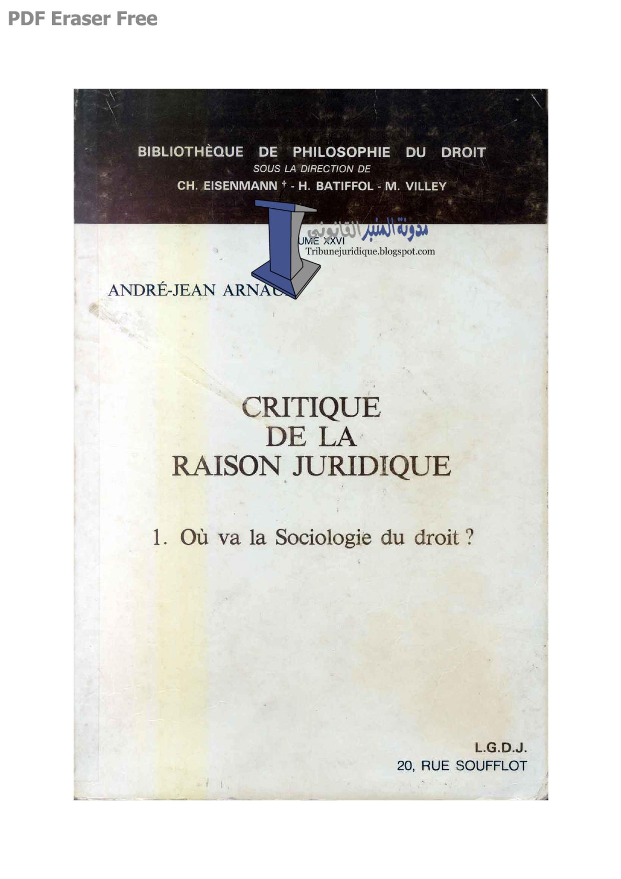 Critique De La Raison J