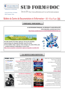 Sud Form@doc Bulletin du Centre de Documentation et d'information—  Site du CFA: