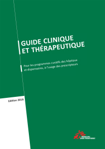 guide clinique et therapeutique 2016