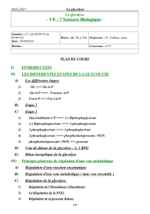 – UE   : 7 Sciences Biologique– I) INTRODUCTION II)