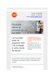 La nouvelle suite de solutions Act! v18 s'adapte