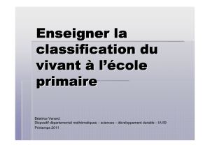 PDF - 3 Mo - Diaporama sur la classification du vivant