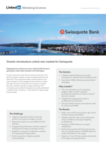 Smarter introductions unlock new markets for Swissquote