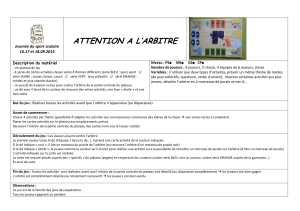 ATTENTION A L'ARBITRE  Journée du sport scolaire 16.17 et 18.09.2015