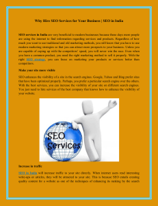 Why Hire SEO Services for Your Business | SEO in...