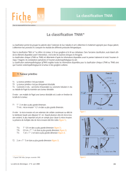 Fiche N°8 technique La classification TNM
