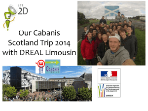Our Cabanis Scotland Trip 2014 with DREAL Limousin