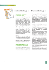 Infectiologie - Parasitologie P : ""