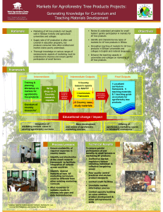 Markets for Agroforestry Tree Products Projects: Generating Knowledge for Curriculum and Rationale