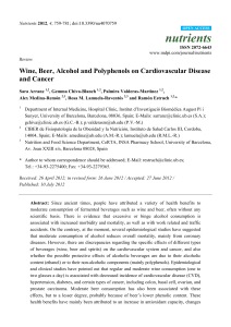 nutrients Wine, Beer, Alcohol and Polyphenols on Cardiovascular Disease and Cancer