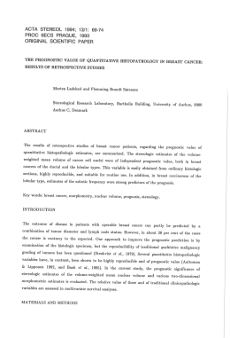 ACTA STEREOL 1994; 13/1: 69-74 PFIOC SECS PRAGUE, 1993 ORIGINAL SCIENTIFIC PAPER