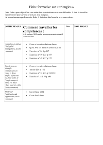 Fiche formative sur « triangles »