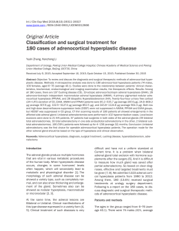 Original Article Classification and surgical treatment for