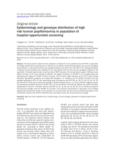 Original Article Epidemiology and genotype distribution of high hospital opportunistic screening